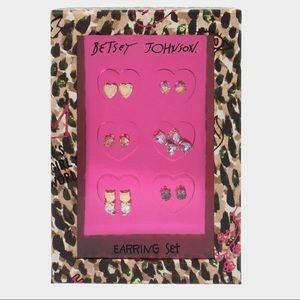 Betsey Johnson Bow Earring Set